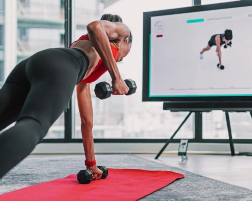 Presence.Fit allows trainers to see users remotely, through the front-facing camera of a mobile device