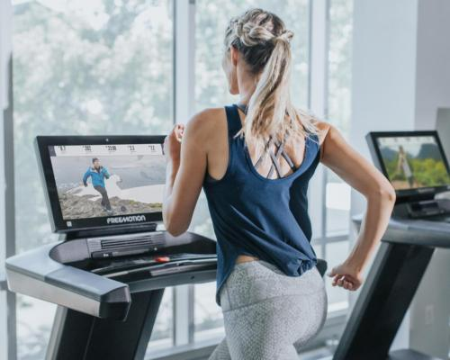 During the iFit workouts, the on-screen coaches aren't just giving instructions; they're delivering other educational insights / Freemotion iFit®-powered 22 SERIES
