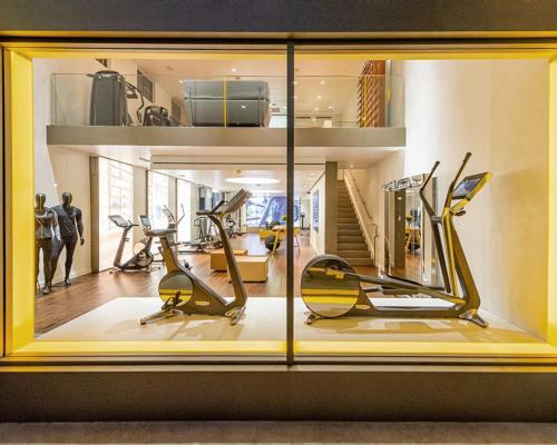 The two-floor space, covering 3,500sq ft, is located in the heart of the West Hollywood Design District / Technogym