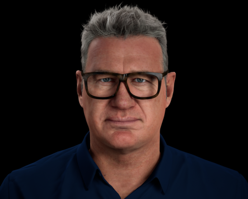 New Zealand Rugby Legend Sir John Kirwan has been recreated as 'Digital John Kirwan' or 'DJK'