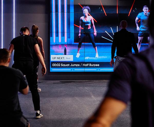The group is trialling virtual group exercise classes, along with its live instructor-led classes