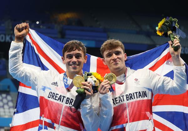 Tokyo Olympic Gold medallists, Tom Daley and Matty Lee have been supported by the GLL Sports Foundation / photo: Getty