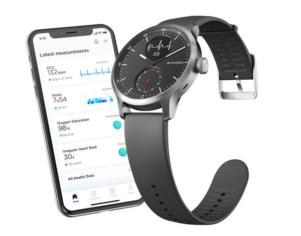 One of Withings' newest products, the ScanWatch detects both AFib and overnight breathing disturbances / PHOTO: Withings