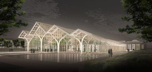 The new West Conservatory will be built based on the 19th century tradition of glasshouses / Longwood Gardens