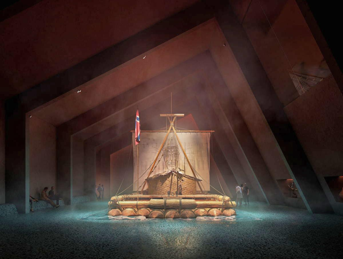 The museum houses a broad range of Heyerdahl's work, including the original Kon-Tiki / Snøhetta