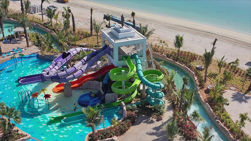 The new KidzAdventure Tower was designed and supplied by water ride specialist ProSlide / ProSlide