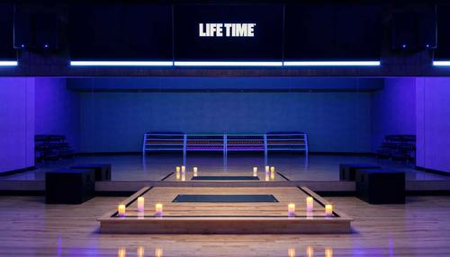 Facilities include dedicated studios for Life Time's group fitness programming / Life Time