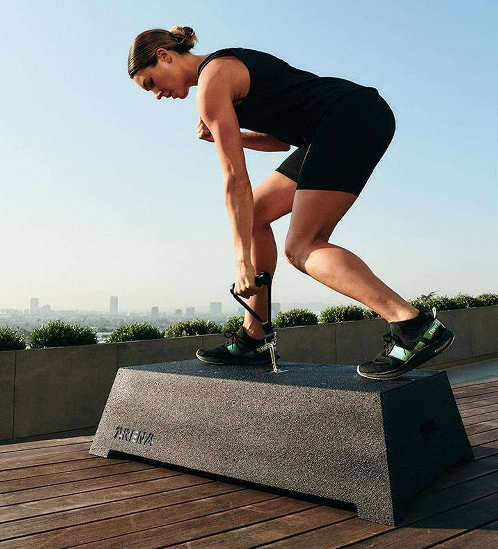 The robotic fitness platform is capable of generating more than 200 (91kg) pounds of resistance / Arena Innovation