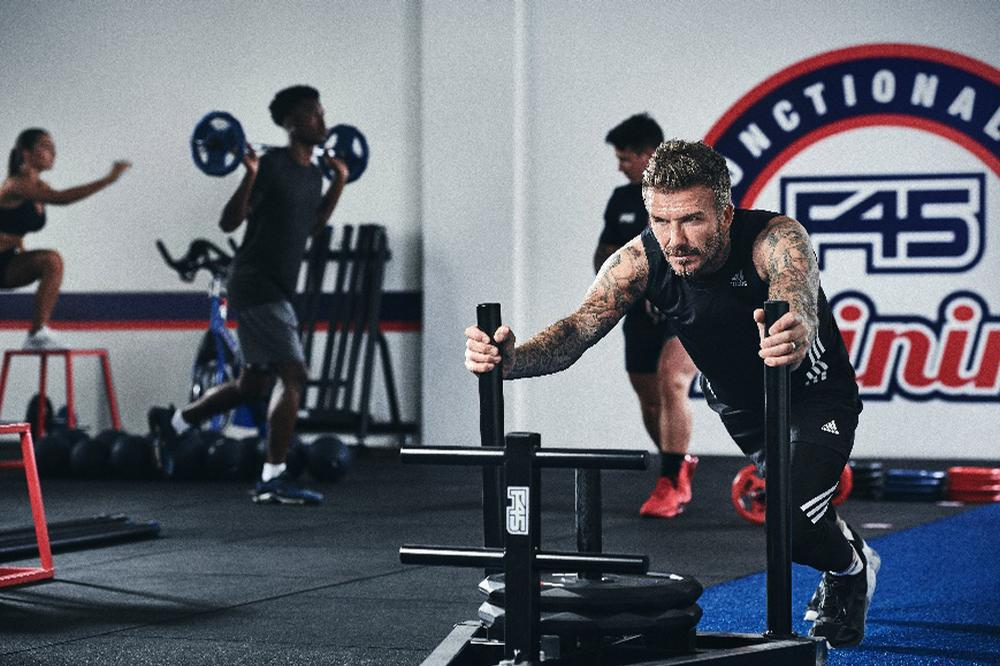 Beckham was introduced to F45 Training by actor Mark Wahlberg, who is also an F45 investor / F45 Training