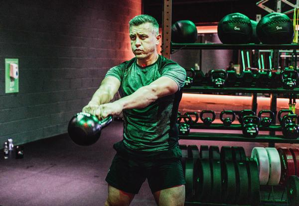 A former rugby player, Peacock trains in the nearest branch of JD Gyms to wherever he is each day / photo: JD Gyms