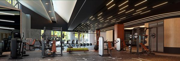 The gym at the Siro Boka Palace – the central element of the wellness offering / photo: Kerzner International