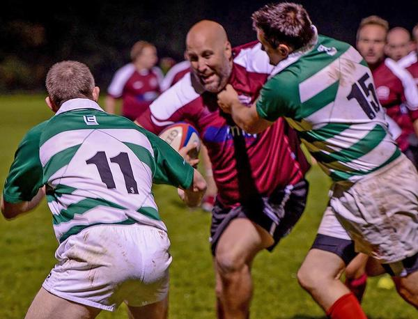 Richard Lucas (Centre) in action for Hitchin RFC / photo: Martin Wiggins