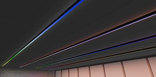 The clip-on LED lighting strips deliver lighting effects to enliven studios