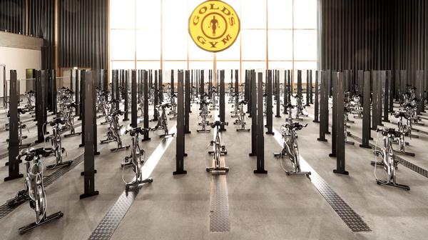 150 bikes generate electricity to power Gold's Gym Berlin / photo: RSG Group