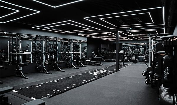 RiSE has a dedicated weights zone with nightclub styling / Photo: Technogym