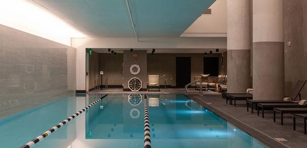 The three-lane lap pool is available for those learning to swim and athletes training for a triathlon