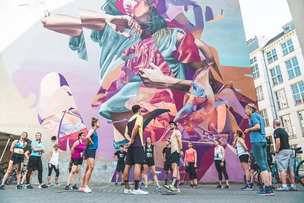 Petit organised Urban Art Run, which inspired the Active Giving app / © Active Giving