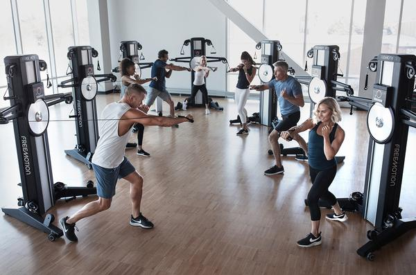 Participants using Freemotion's Fusion Team Training stay on the same piece of equipment throughout / photo: Freemotion