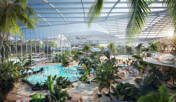 Therme Manchester will cover 100,000sq m and is a new health and wellbeing concept for the UK / photo: Therme Group, Manchester