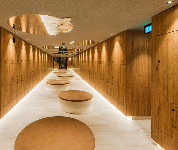 Wellness elements at SportCity include a sauna and steamroom and high-end changing rooms / Photo: Sportcity