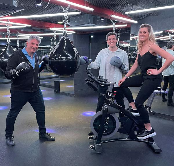 Joe Cohen, Robert Rowland and Hilary Rowland are the driving force behind the new company. Hilary first talked to HCM in 2011/12 when Boom Cycle launched / photo: united fitness brands