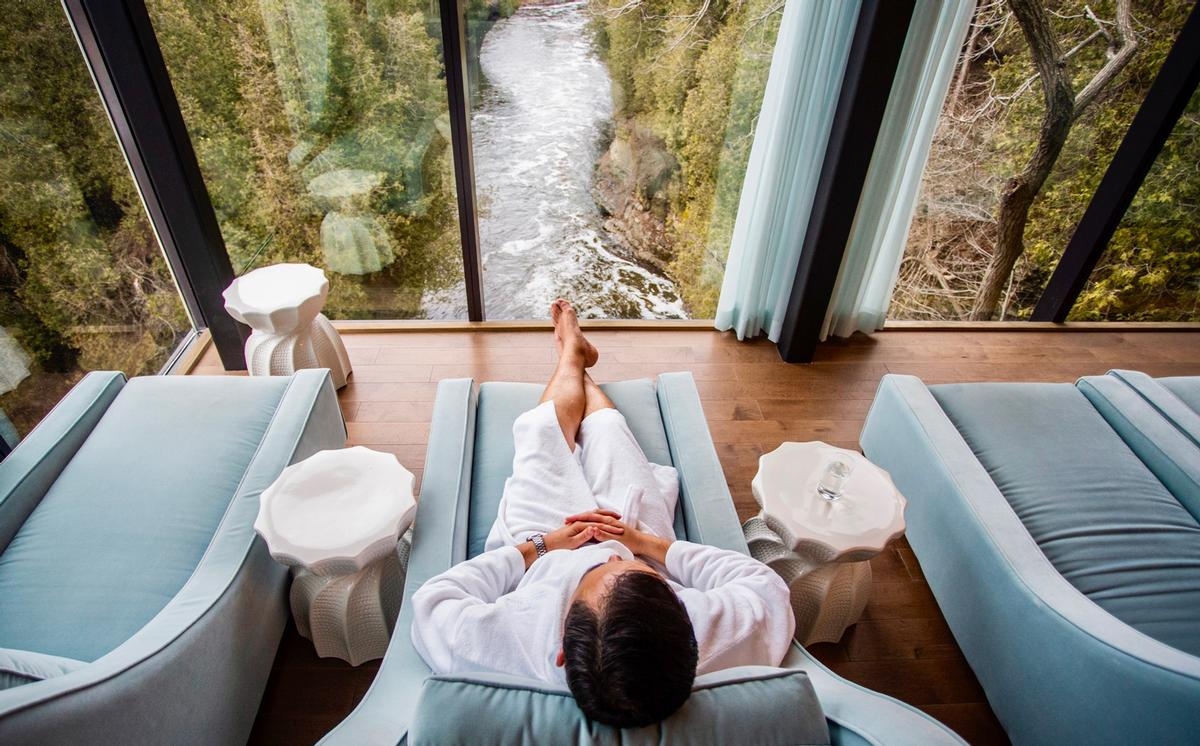 A countryside spa experience was the most popular choice of wellness escape for consumers / Elora Mill Hotel & Spa, Elora, Ontario