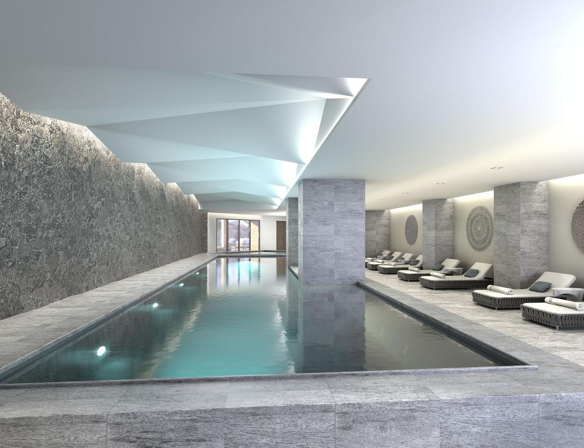 The resort will feature a 11,000sq ft signature Spa Montage with a serene indoor pool / Montage Big Sky