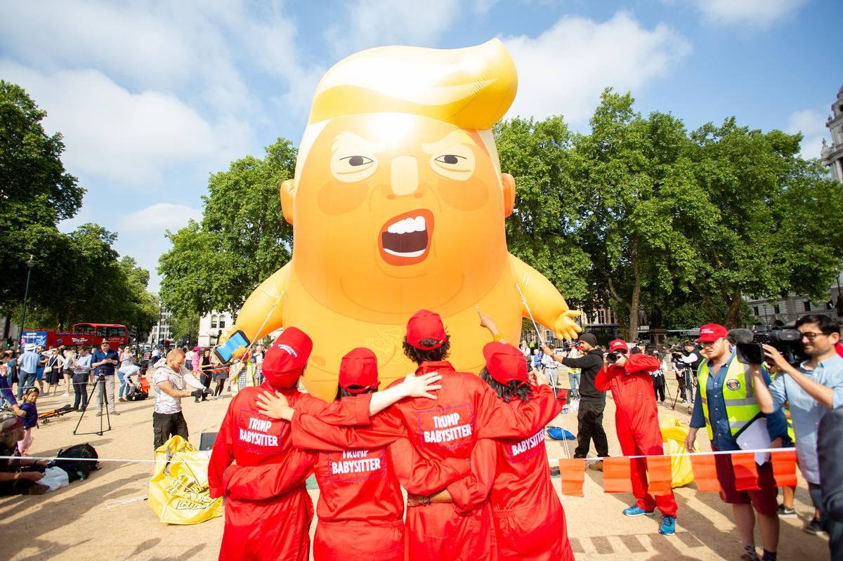 The 6m-high (19.7ft) inflatable blimp was handed to the museum to mark the departure of the Trump family from the White House / Shutterstock.com/John Gomez