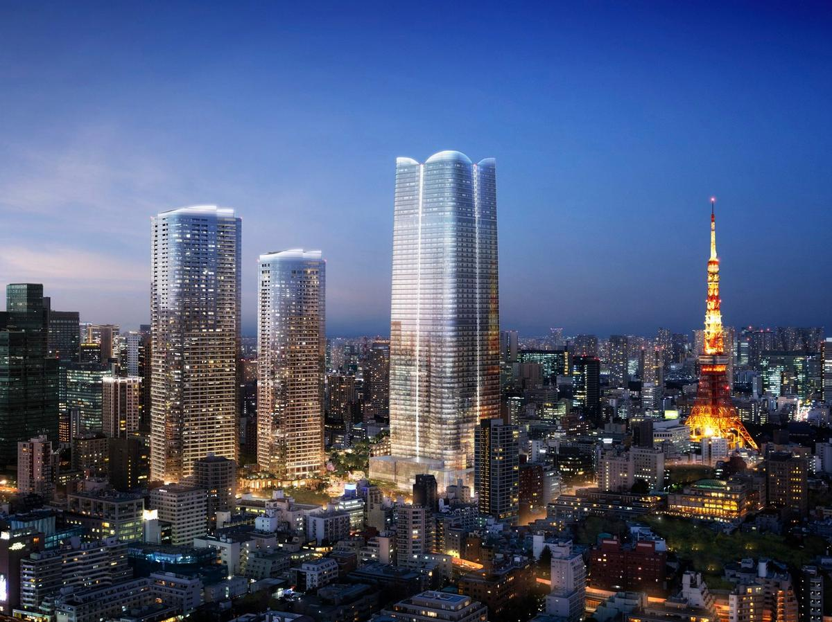 The hotel and residences project is a product of collaboration between Aman and Japanese developer Mori Building Co