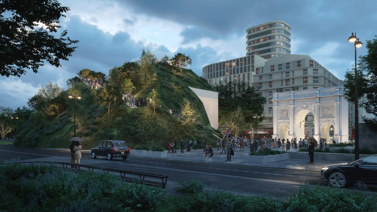 MVRDV reveal ambitious plans to create Marble Arch visitor attraction for London