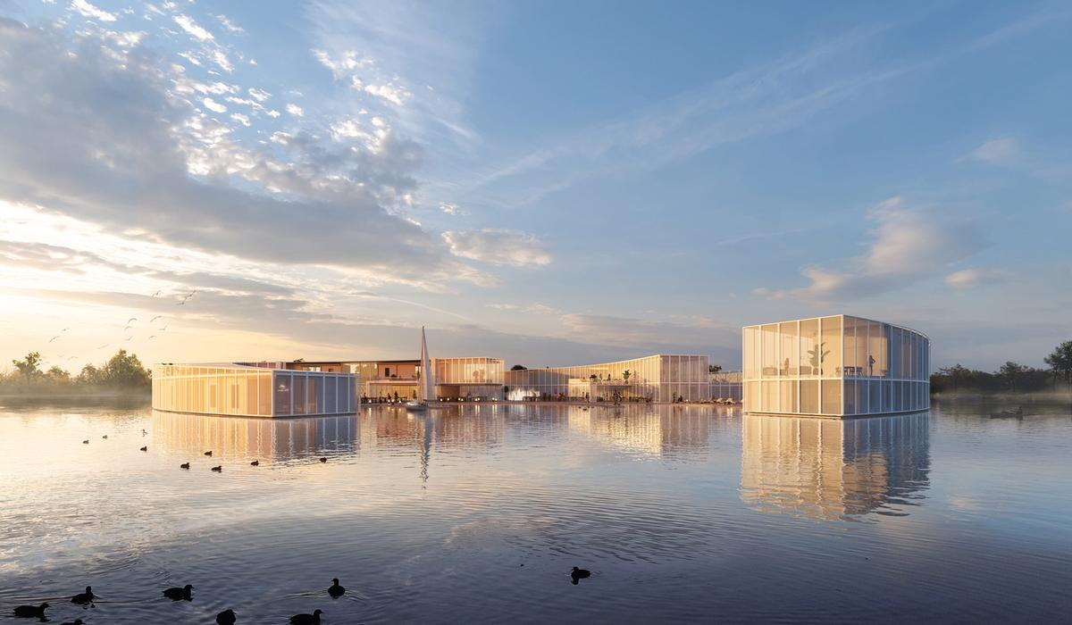 Baca Architects submits scheme for floating eco-wellness resort