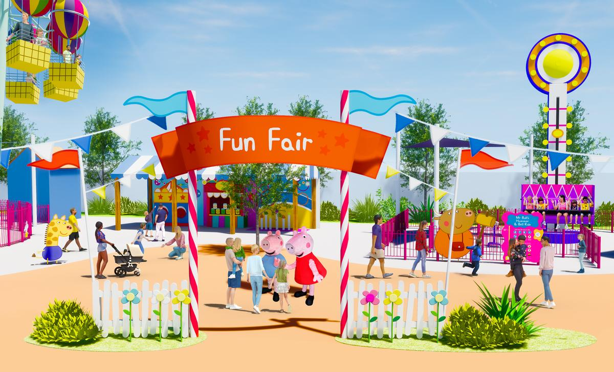 The separately ticketed park will be feature locations from the Peppa Pig universe / Merlin Entertainments