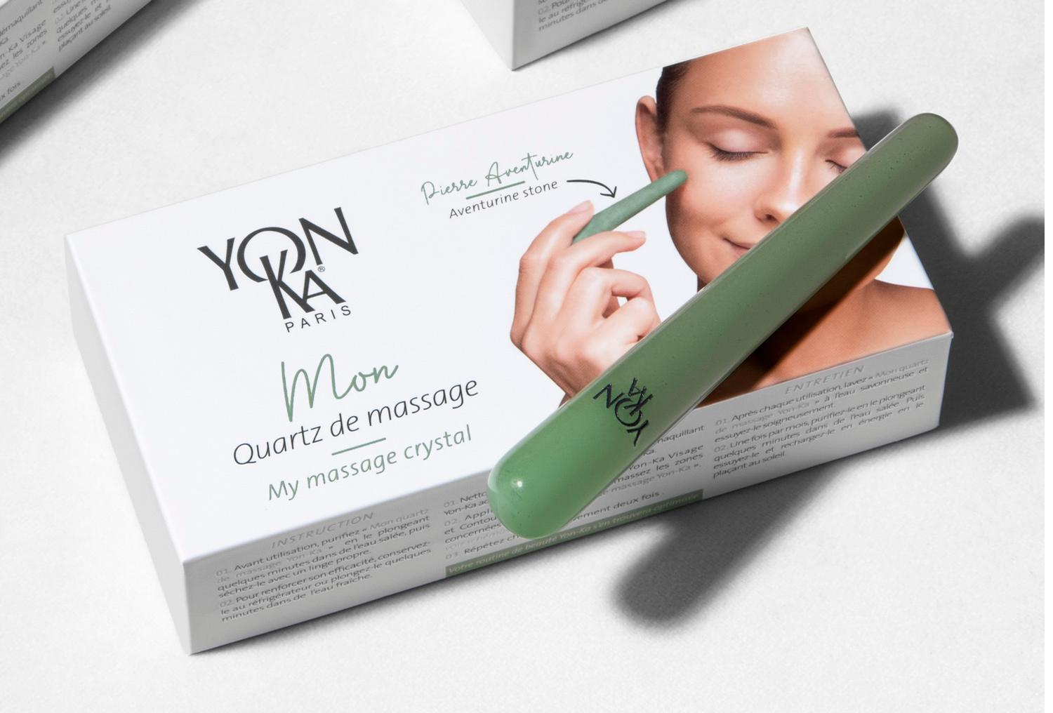 The new tool can be used to sculpt facial contours and apply serums and creams