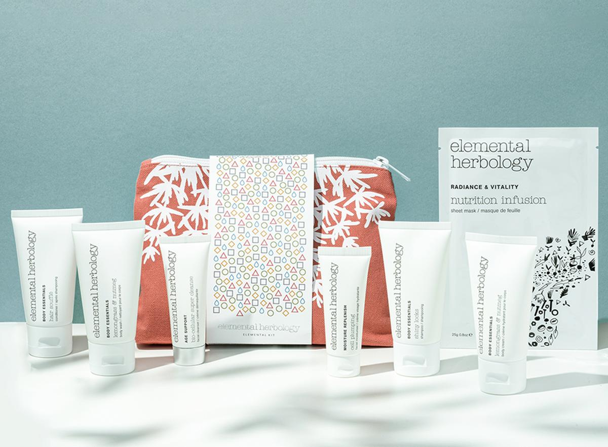 The new kits contain a refreshing selection of Elemental Herbology's body, haircare and skincare products / Elemental Herbology