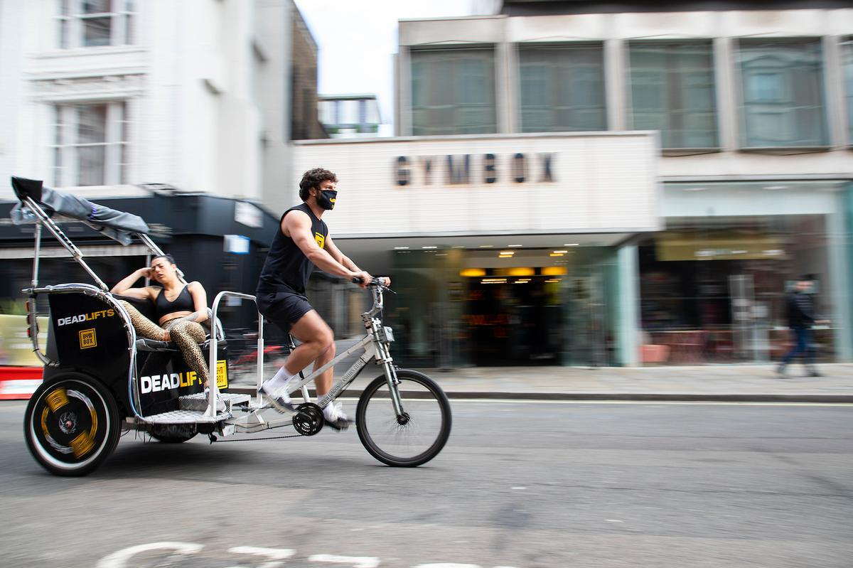 The reopening has seen some operators launch marketing campaigns – such as Gymbox, which is taking people home in rickshaws / Gymbox