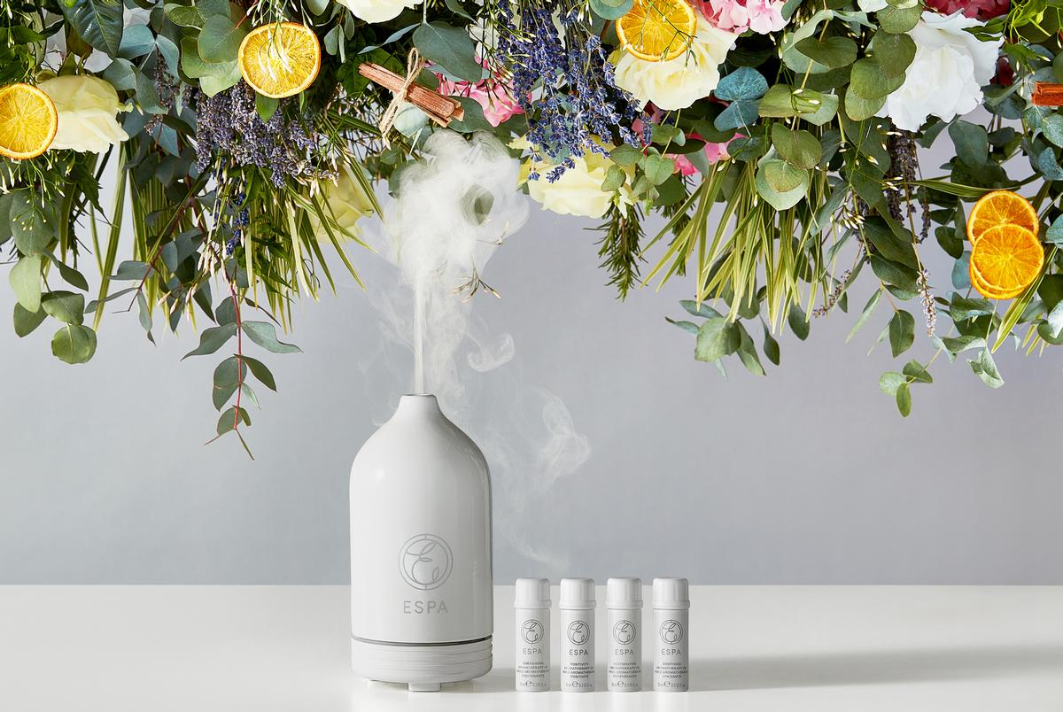 To accompany the diffuser, Espa has introduced a set of aromatic essential oils featuring favourites from its Signature Blend collection: Soothing, Energising, Positivity and Restorative / Espa