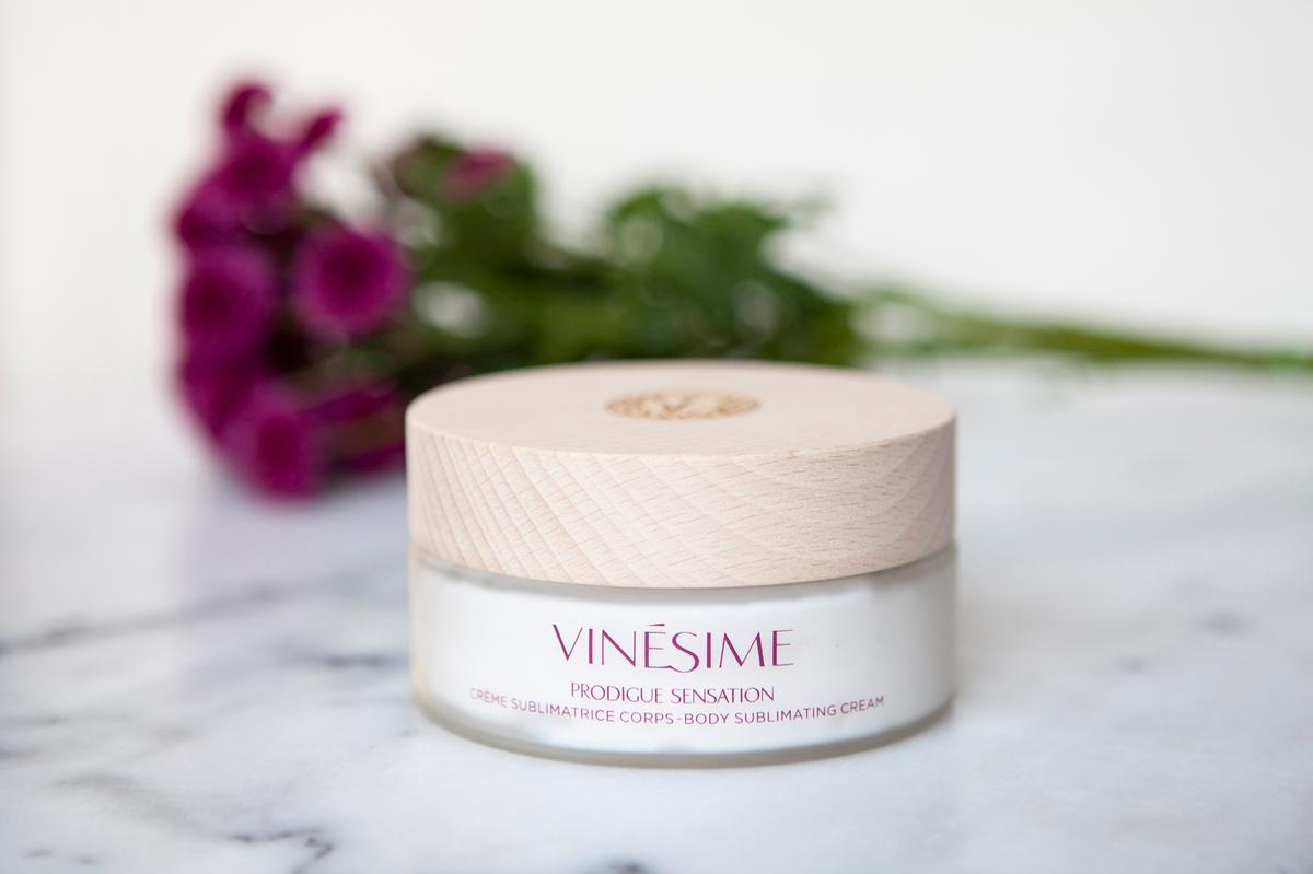 The new body cream is part of Vinésime's Racines du Temps range, defined by its unique A2OC complex
