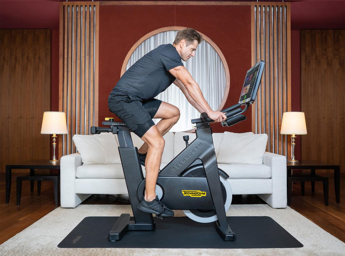 Each Kempinski Fit Room will be equipped with a Technogym Bike and Technogym Case / Technogym