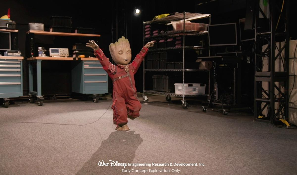 Disney Imagineering has created a prototype robot, in form of the character Groot from the Marvel universe / Disney Imagineering Research & Development
