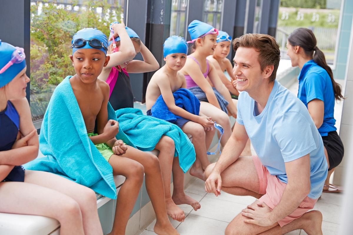 The resources have been designed to help swimming teachers care for, and support, young learners' wellbeing and mindfulness / Shutterstock/Monkey Business Images
