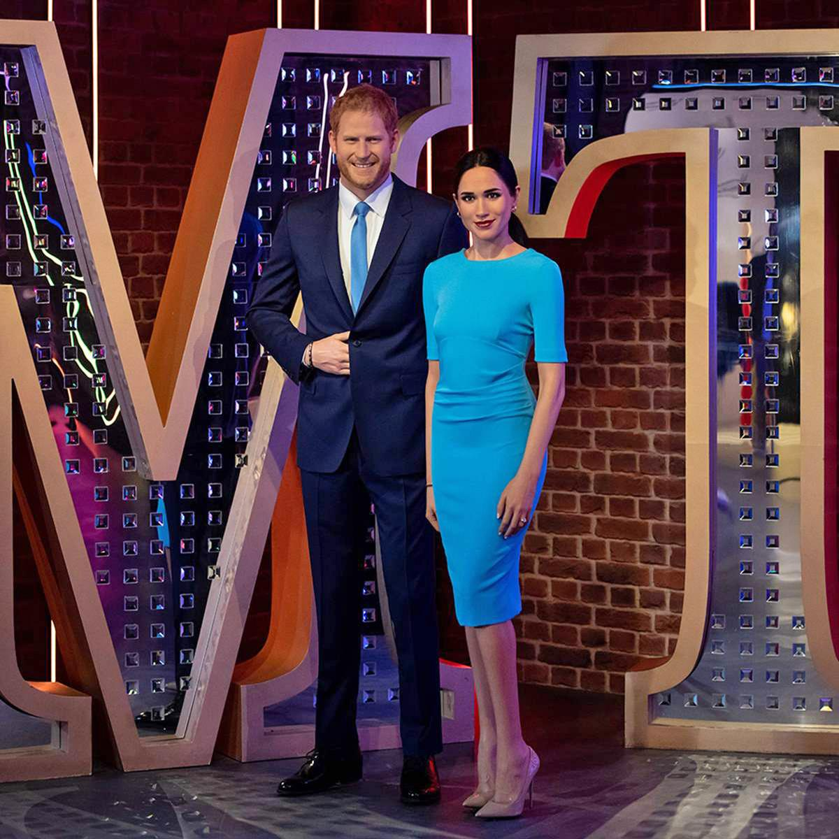 The waxworks of Prince Harry and Meghan have been relocated to a brand new Hollywood 'Awards Party' zone / Madame Tussauds