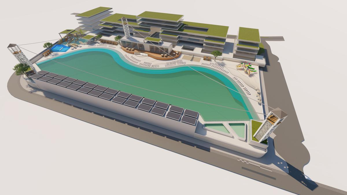 The 20,000sq m surfing facility will include a number of other leisure and wellness amenities / WhiteWater