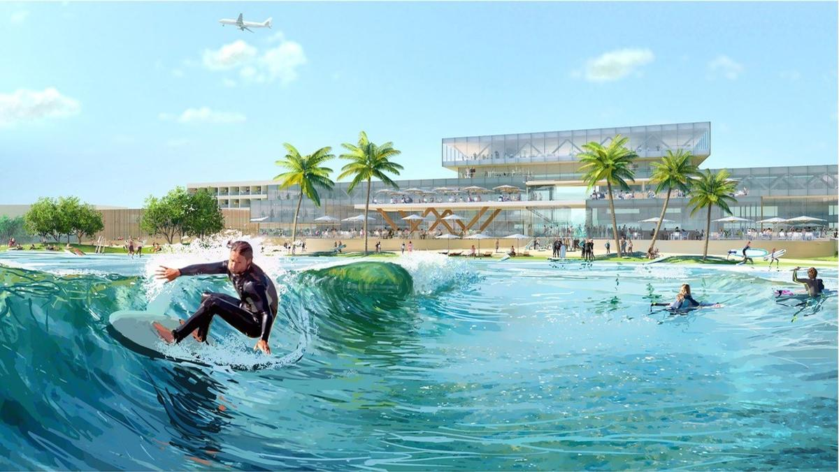 Surftown MUC will be located close to Munich's international airport / WhiteWater