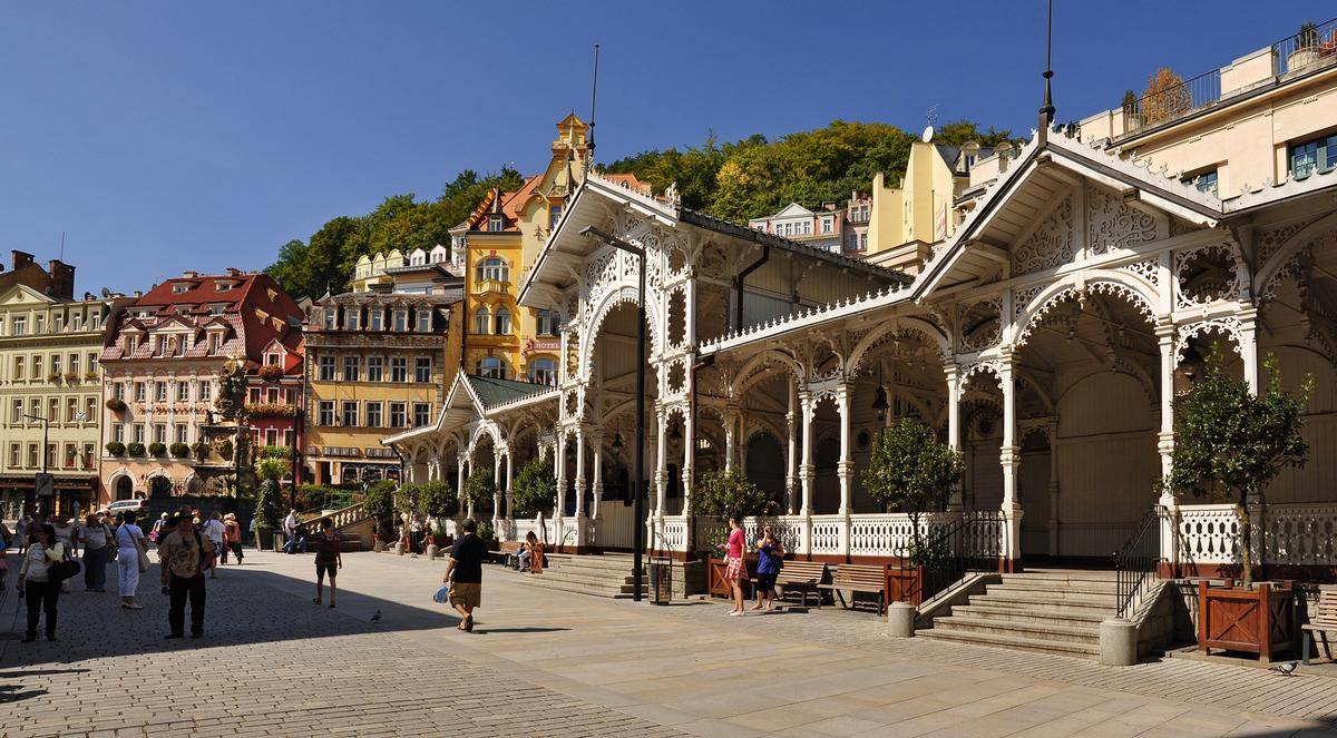 The event will also feature an insight into three of the Czech Republic's leading healing towns such as Karlovy Vary (pictured)
