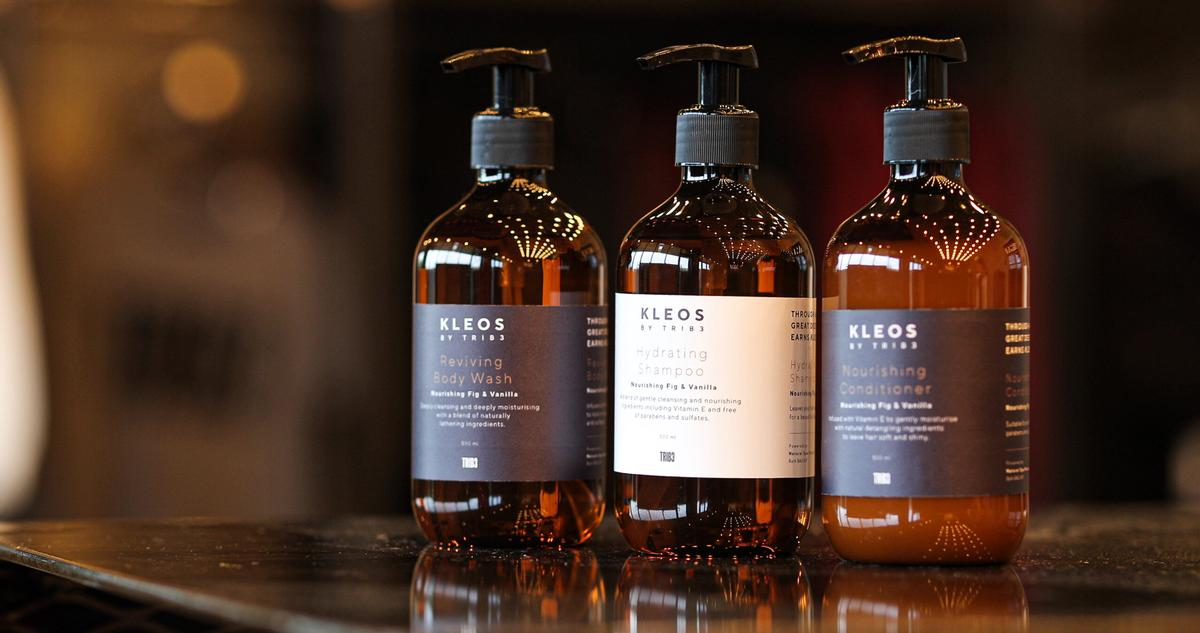 The KLEOS range was designed in collaboration with Natural Spa Factory / TRIB3