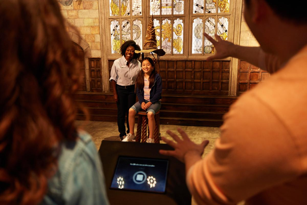 Guests can take part in the 'Sorting Ceremony', featuring the iconic sorting hat / Warner Bros/Twitter