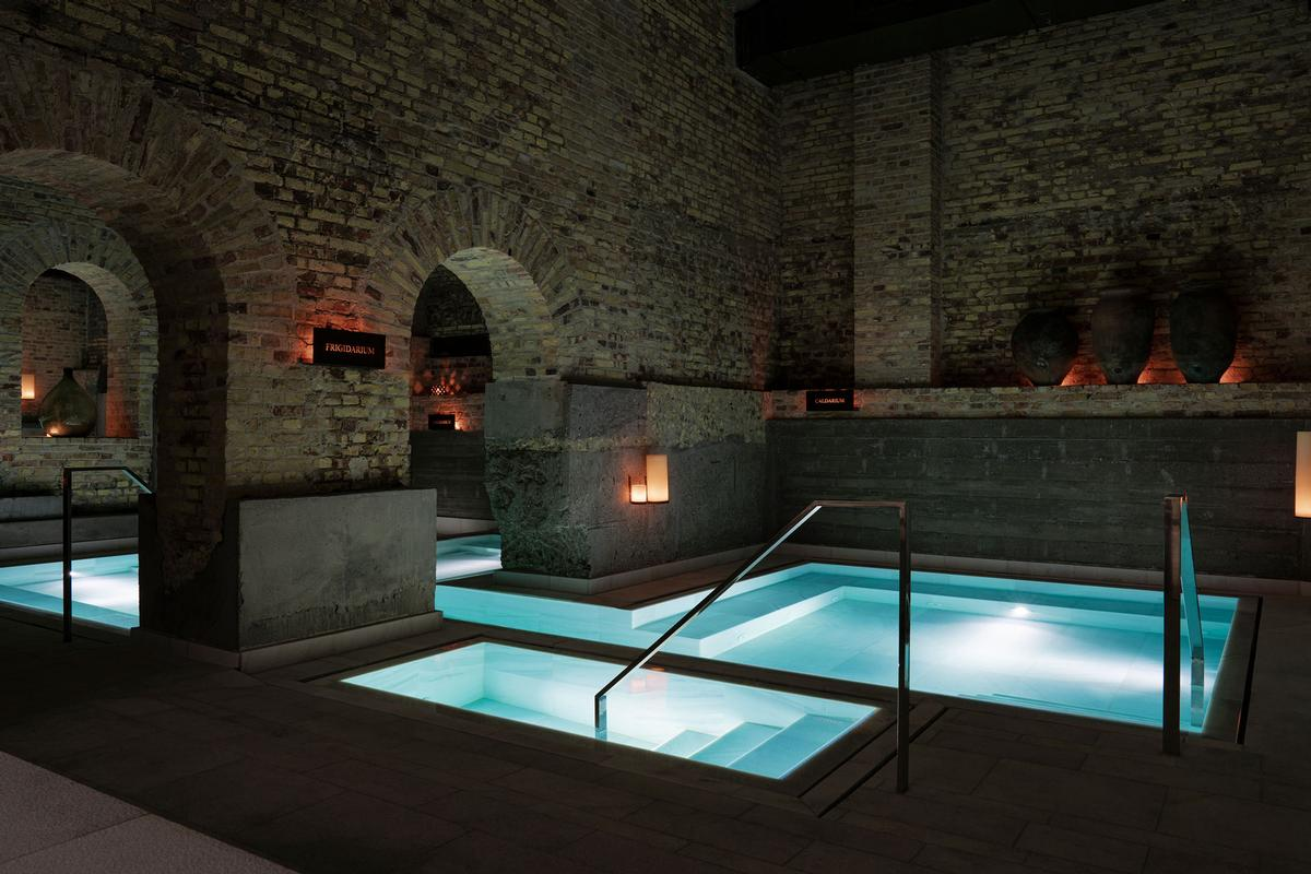 The Aire Ancient Bath Experience consists of seven different bathing experiences of varying temperatures / Aire Ancient Baths