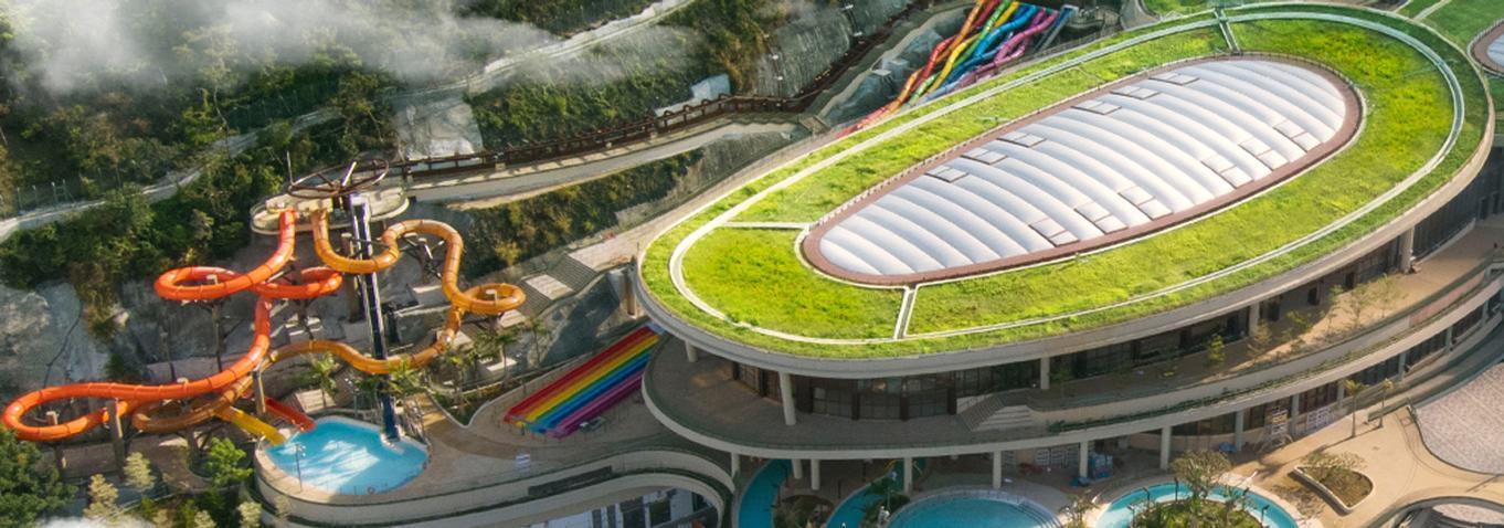 Water World has five zones and features both indoor and outdoor attractions / Ocean Park