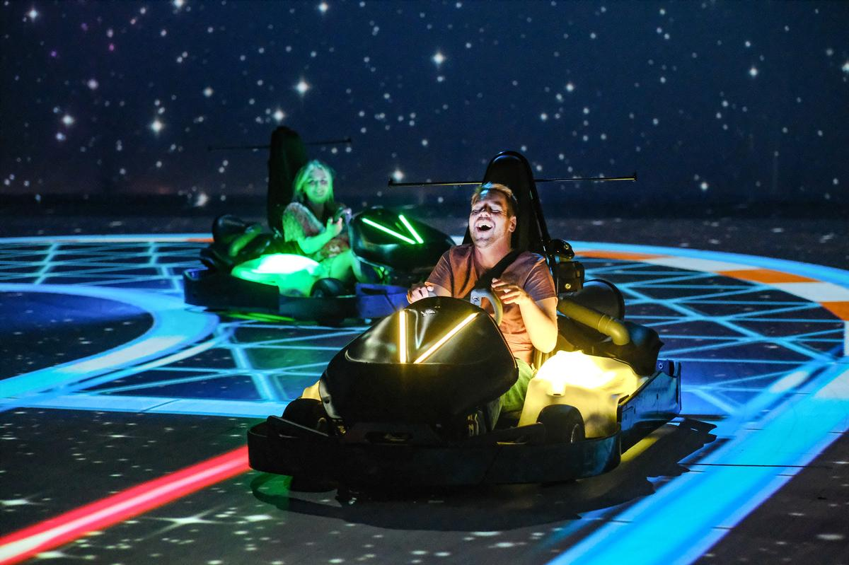 The AR allows Chaos Karts to be experienced on an infinite number of tracks / Chaos Karts