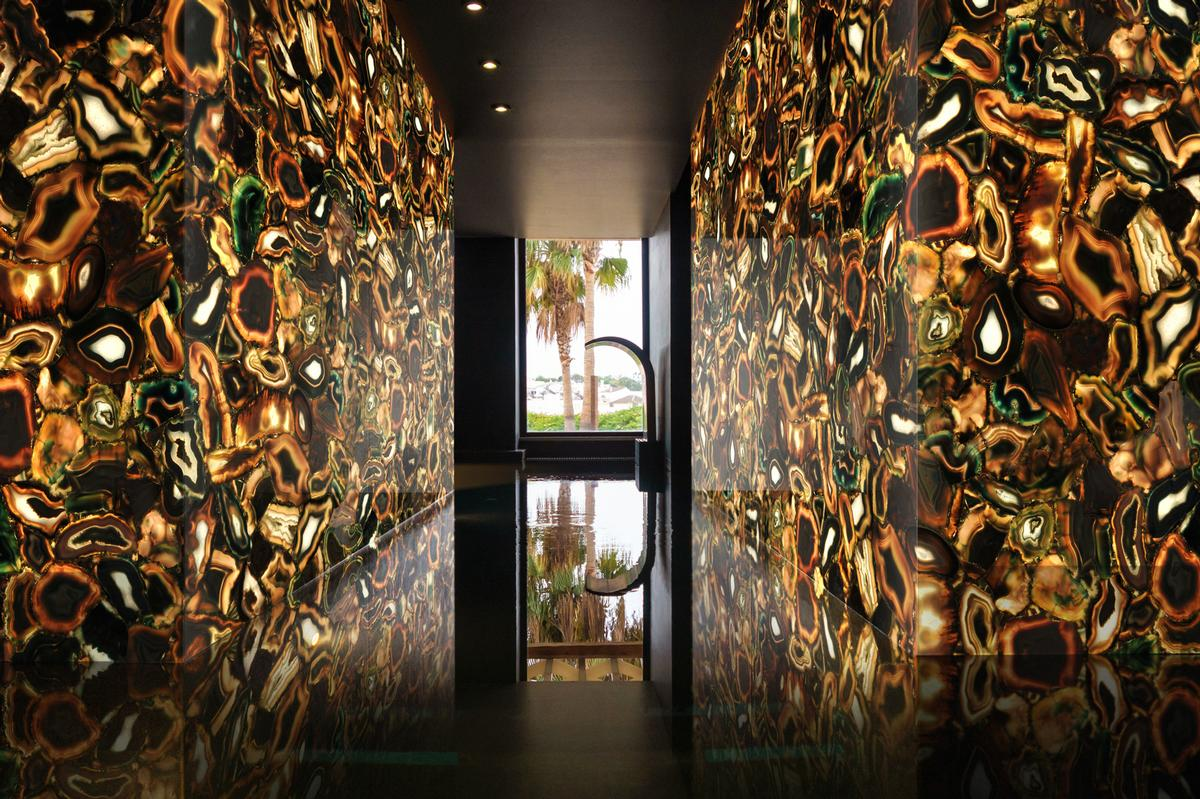 Alemanno believes the stones are well-placed in the spa environment thanks to their capacity to positively support physical and mental health / Fabio Alemanno Design